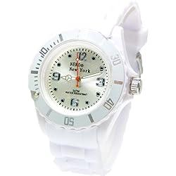 Nerd® NEW YORK Uhr in Weiß BU277