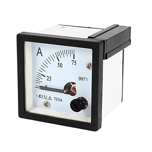 99T1quadratisch Panel Mount beweglichen Wetterfahne 0–75A AC Analog Amperemeter 48mmx48mm