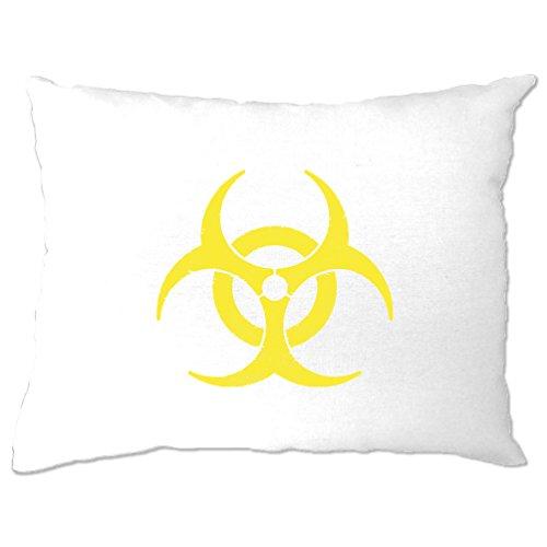 Biohazard Distressed Logo Warnung Gefahr Gefährliche Zeichen kühles Geschenk Kissenbezuge (Gefährlich T-shirts Designs)
