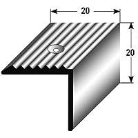 5 x 1 m 5 Meter 40 x 30 x 3 mm von Auer Metall Alu eloxiert gebohrt Treppenkantenprofil // Winkelprofil