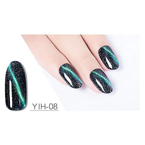 samLIKE Nagellack, Fashion Glitter UV & LED Nail Polish Superglanz Nagelkunst Glanz Nagellack Gel Langanhaltender Maniküre-Lack Glänzende Nägel 15ml (H)