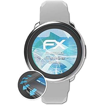 atFoliX Protecteur décran Convient pour MyKronoz ZeRound Film Protecteur, Ultra Clair et Flexible