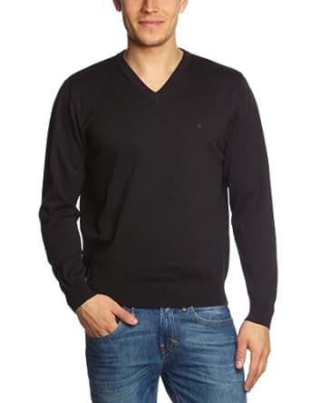 CASAMODA Herren Pullover Comfort Fit 004130/80, Gr. 48 (S), Schwarz (80 schwarz)