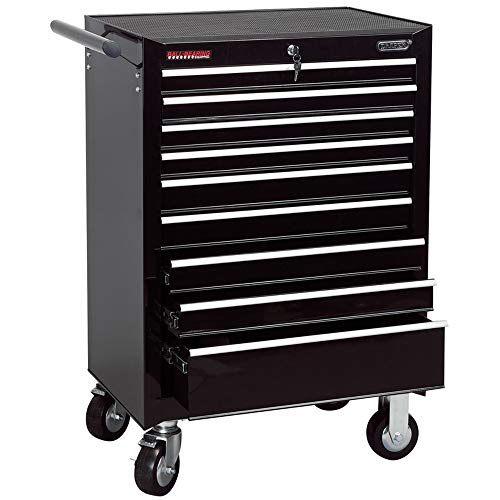 Draper 80245 9 tiroirs Servante, Noir