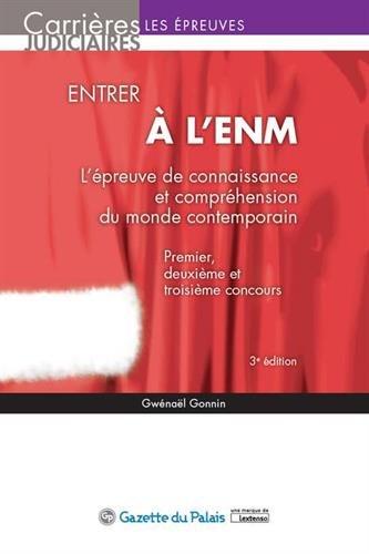 Entrer à l ENM - L épreuve de connaissance et compréhension du monde contemporain