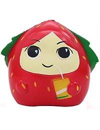 About1988 Strawberry Girl,Mood Relief Spielzeug von ca. 13X13X11CM,Zucker Duftende Squishy langsam steigende Squeeze-Spielzeug-Sammlung