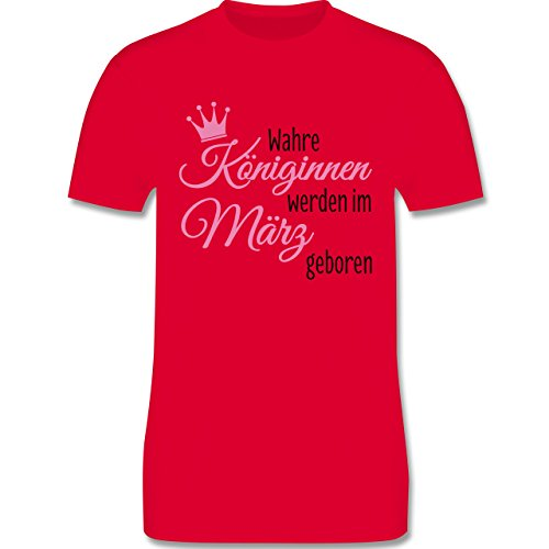 Geburtstag - Wahre Königinnen werden im März geboren - Herren Premium T-Shirt Rot