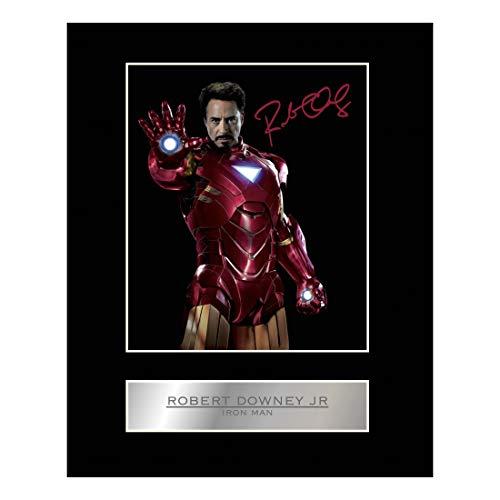 Photo dédicacée de Robert Downey JR (IronMan) avec monture