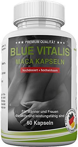 Premium Blue-Vitalis Männerkapseln - PRO Mann - 60 Kapseln Tabletten - L- Carnitin, L- Arginin - bei Elternwunsch