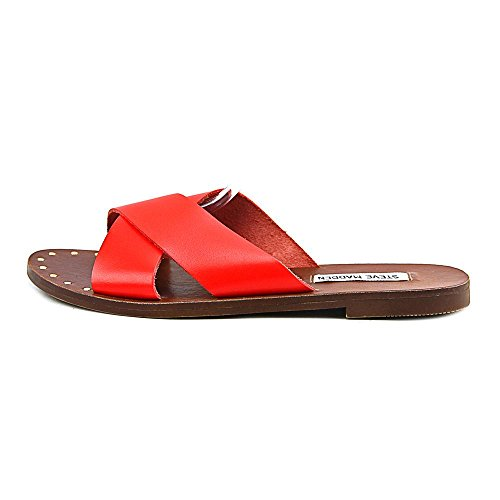 Steve Madden Dryzzle Wohnung Slide Sandale Orange Leather ...