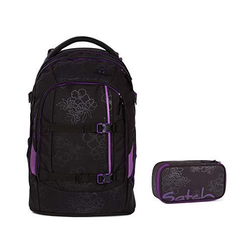 Satch Pack - Schulrucksack Set 2tlg. (Box) - Purple Hibiscus