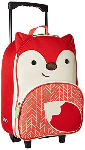 Skip Hop Zoo Luggage, Reisetrolley für Kinder, mit Namensschild, Fuchs Ferguson, mehrfarbig