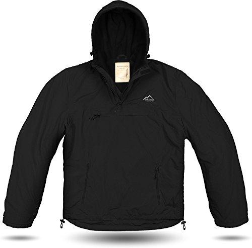 normani Windbreaker/Sturm-Funktionsjacke/Herbstjacke mit innerem Fleecebesatz und großer Brusttasche Farbe Schwarz Größe L