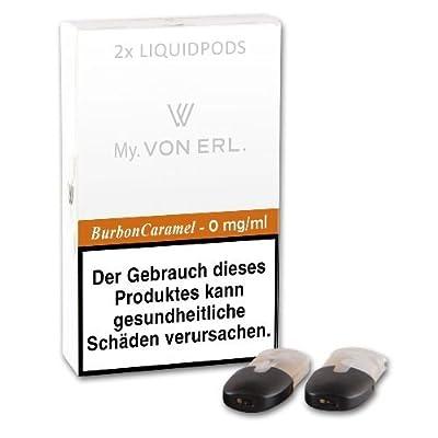 Cartomizer VON ERL. My BourbonCaramel nikotinfrei 2 Liquidpods à 2 ml von VON ERL. GmbH