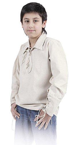Bäres Mittelalter Hemden, Tuniken kleiner Recke - Kinder Markthemd - Kinder Gayle für 9-11 jährige/natur (Halloween-kostüme Für 10 Jährige)