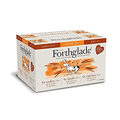 Forthglade Complete Meal Adult Multi Chicken Lamb Turkey Dog Food (12x395g) from Forthglade