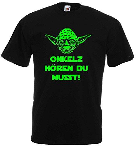 Master Yoda Unisex T-Shirt Star Wars Spruch Onkelz hören du musst!XL (Star Trek-kragen-shirt)