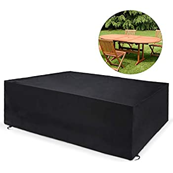 Dokon Garden Furniture Cover with Air Vent, Waterproof ...