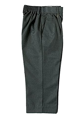 Zeco Quality School Uniform Wear Boys Sturdy Large Fit Trousers Age 5 - 13 (Age 11/12 Outside Leg 38, Black)