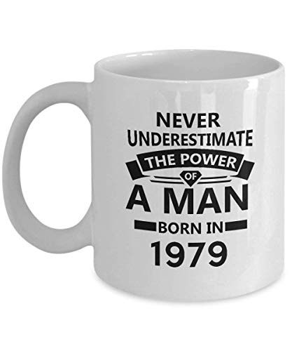 38th Birthday Mug - The Power of a Man Born in 1979 Coffee Mug - Perfect Gifts for Men, Women, Dad, Brother, Friends - On Birthday, Christmas, Valentine - 11Oz Ceramic Tea Cup White (Male Power-camo)