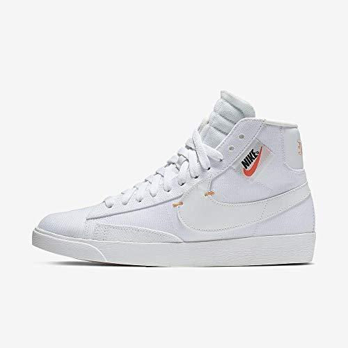 Nike Damen W Blazer Mid Rebel Basketballschuhe, Mehrfarbig Platinum Tint/Summit White 102, 38.5 EU