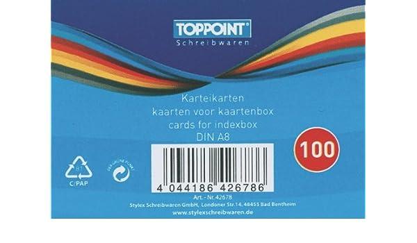 10000 Stylex Karteikarten DIN A8 weiß liniert 52x74mm