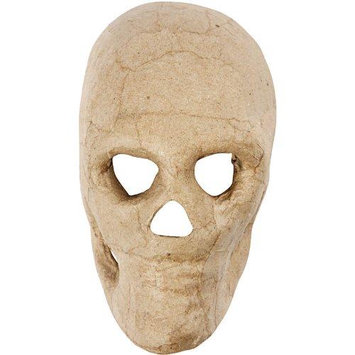 Creativ Totenkopfmaske, 13 cm, 1 - Pappmaché Kostüm