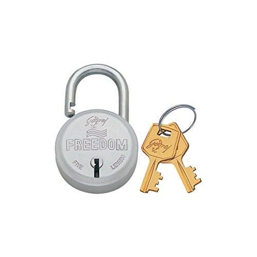 Godrej Locks Freedom 5 Levers Solidex Padlock with 2 Keys...