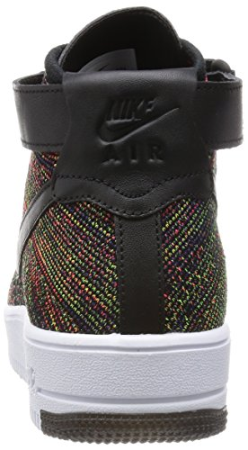 Nike Af1 Ultra Flyknit Mid, Chaussures de Sport Homme Noir - Negro (Black / Brght Crmsn-Crt Prpl-Vlt)