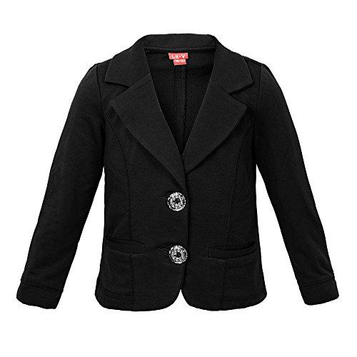 La-V Mädchen Jacke mit Taschen schwarz/Größe /Größe 116-122
