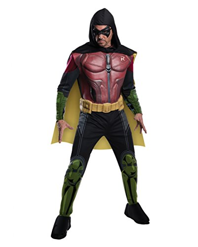 Horror-Shop Robin Muskel-Kostüm mit Maske & Cape Arkham -