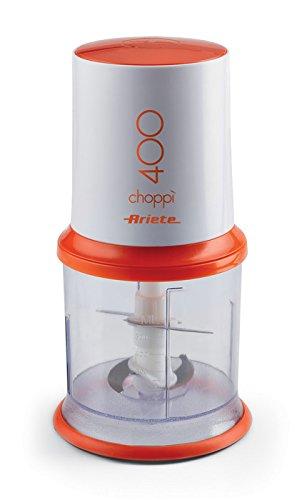 Ariete Choppì Tritatutto Elettrico Potente e Compatto, 400 W, 0.5 Litri, Plastica, Bianco/Arancio
