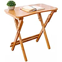 Yuan Table Mesa Plegable Plegable de Madera pequeña Mesa-Cocina Mesa Plegable Plegable de Altura Ajustable portátil-Escritorio de la computadora/Desk (Tamaño : 70 * 40cm)