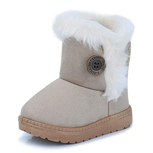 Bofshow Snow Boots Winter Warm Outdoor Shoes for Toddler Girls Kids