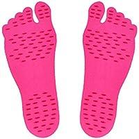 Selbstklebend Foot Pads Füße Aufkleber Stick auf Sohle Flexible Anti-Rutsch Beach Füße Schutz Rose Rot L 1Paar preisvergleich bei billige-tabletten.eu