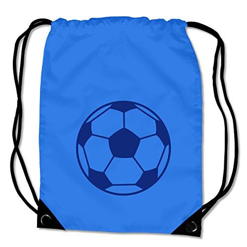 Kinder-spiel-fußball-trikot (plot4u Turnbeutel Fußball Sportbeutel für Fußballschuhe und Trikot Bag Base® BG10 Gymsac 45x34cm saphir blau/königsblau)
