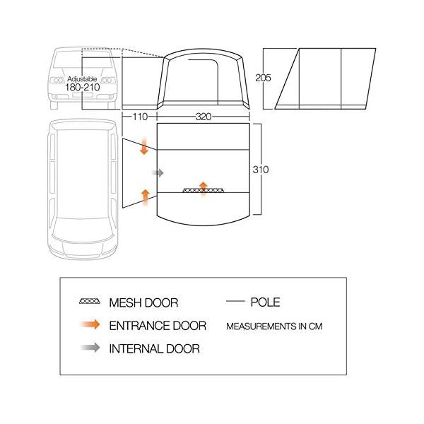 Vango Noosa Low Poled Motorhome Awning 2