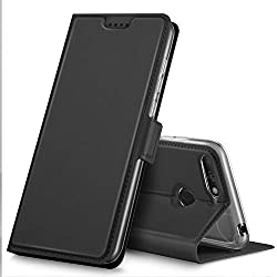 GeeMai Coque Honor 7A, Flip Coque Premium avec Emplacement de Cartes pour Honor 7A Smartphone.Noir