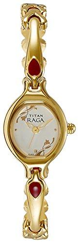 Titan Women's Raga Analog Silver Dial Watch