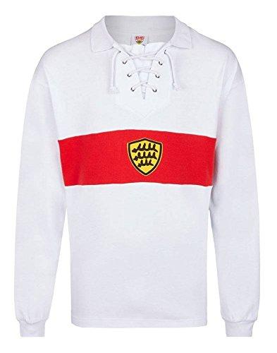 Score Draw Herren Retro - Trikot VfB Stuttgart | Retrotrikot 1928 in Weiß, Größe: XL -