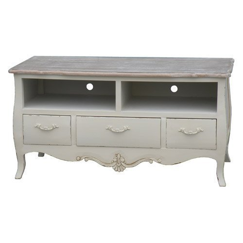 Shabby Chic French Cream Ornate Large TV Cabinet French Style Furniture television