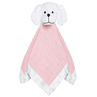 aden + anais musy mate lovey, 100% cotton muslin and hypoallergenic polyester, 40cm x 40cm, lovely reverie