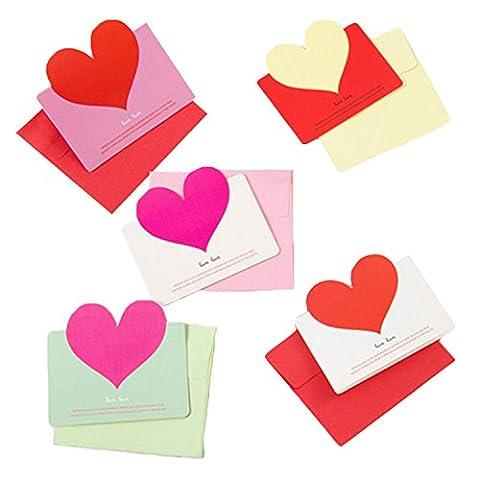 50 PCS Liebes-Herz-Gruß-Karten Feiertags-Segen-Karten mit Umschlägen für Weihnachten Muttertags-Geburtstags-Erntedank-Tag