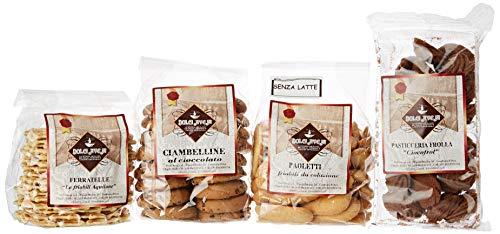 Pacco colazione idea regalo da 1.550kg di biscotti misti - 4 confezioni diverse incluse - biscotti artigianali senza olio di palma - dolci aveja