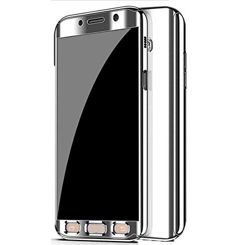 74a5ee098d6 Funda para Galaxy S7 Edge, Ultra Delgada, galvanizada, protección Completa  de 360 Grados