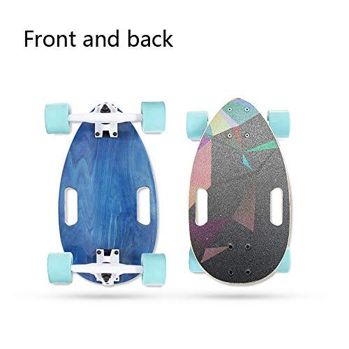 San qing Komplette Mini Cruiser Penny Skateboard, Vier runde kleine Skateboard Mini erweitert Skateboard Beetle Travel Board Mini Roller,8