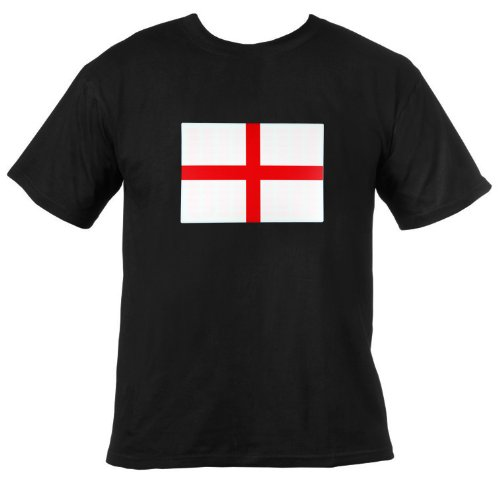 Ultrasport LED Leucht T-Shirt Motiv England, schwarz, L, 380100000152 Preisvergleich
