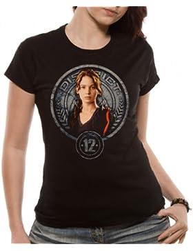 Loudclothing Camiseta de Hunger games con cuello redondo para mujer