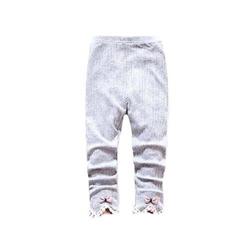 Tootlessly Baby Girls' Lace Crochet Pure Color 100% Cotton Crop Leggings