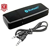 SAMANK Bluetooth Audio Receiver With AUX For Home Theater Speaker Headset | CSR Chipset | Mic, Dual Pairing